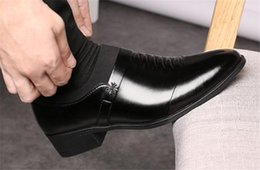 Discount leather low cut dress - Spring and autumn dress business tip low-cut men's leather shoes