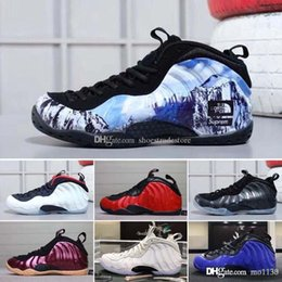 basketball ball shoes 2019 - 2018 Cheap Best Basketball Shoes Penny Hardaway Mens Sports Sneaker Foam One Eggplant blue red Mens Basket ball Shoes co