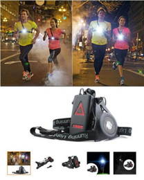 usb charging headlamp 2021 - 150lm XPE Outdoor Sport Running Lights Q5 LED Night Running Flashlight Warning Lights USB Charge Chest Lamp White Light Torch