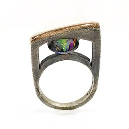 Mystic topaz stones online shopping - Mystic Topaz Stone Hand Generation Silver Design Ring