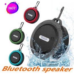 quality player Australia - C6 Speaker Bluetooth Speaker Mini Potable Wireless Audio Player Waterproof Speaker Hook And Suction Cup Stereo Music Player High Quality