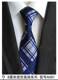 Wholesale Business Model NZ - Tie spot 2017 explosion models men's tie Polyester silk trendy stripes arrow tie factory direct 8cm 12 pcs