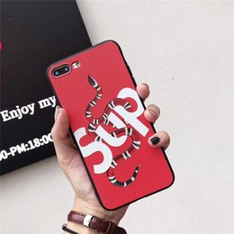 $enCountryForm.capitalKeyWord NZ - Fashion Brand Phone Case with Cool Snake Around Letters Tiger for IphoneX 7P 8P 7 8 6 6sP 6 6s Cool Fashion Luxury Phone Case