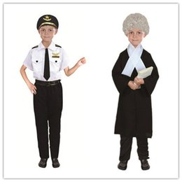 $enCountryForm.capitalKeyWord Australia - Best Selling Kids Halloween Fire Costume Children Day Costume Police Attorney Pilot Doctor Worker Pilot Performance Boy Girl Cosplay Costume