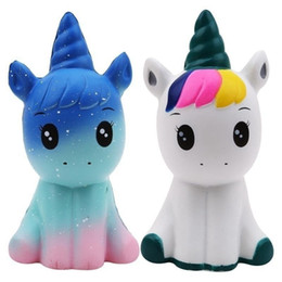 $enCountryForm.capitalKeyWord UK - 10pcs  Jumbo Kawaii Colorful Galaxy Unicorn Squishy Doll Slow Rising Stress Relief Squeeze Toys for Baby Kids Xmas Gift 12*6*5CM