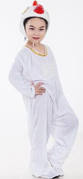 white chicken costumes 2019 - 2019 New style children cosplay White Chicken Duck and Goose white series Animal Boys and girls perform clothing
