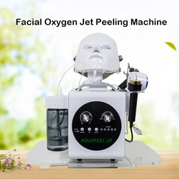 $enCountryForm.capitalKeyWord Australia - New design 5 In 1 Hydradermabrasion Ultrasonic RF BIO Cold Hammer Oxygen Spray Led Mask Face Lifting Skin Tightening Hydra Facial Machine