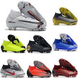 Venta al por mayor de 2019 zapatos de fútbol para hombre Mercurial Superfly VI 360 LVL UP Tacos de fútbol Elite FG CR7 botas de fútbol neymar de primera calidad scarpe calcio Hot