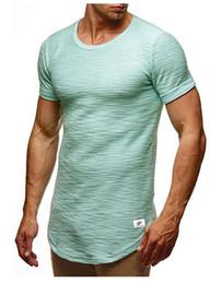 $enCountryForm.capitalKeyWord Australia - Fashion-Men Tshirts Summer Hem Curved Long Tees Solid Colors Short Sleeves Athletic Casual Tops