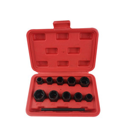 Stud extractor online shopping - 11Pcs Nut Bolt Removers Set Mm Locking Wheel Bolt Nut Stud Extractor Twist Socket Set Threading Hand Tools Kit With Box