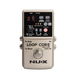 Loops Pedals Australia - NUX Loop Core Deluxe Upgraded Guitar Loop Pedal with Foot Switch Automatic Tempo Detection 8 Hours Recording 24-bit Audio