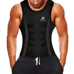 $enCountryForm.capitalKeyWord UK - Ningmi Men Sauna Vest Hot Sweat Waist Trainer Tank Top Neoprene Slim Body Shaper Male Workout Corset Compression Shapewear Strap T190710