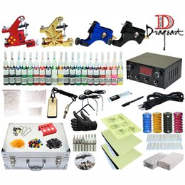 Wholesale Good Quality Best Price Complete Tattoo Kit machine Gun Color Inks Power Supply TK