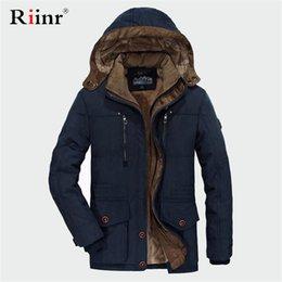 $enCountryForm.capitalKeyWord Australia - RUELK Winter Jacket Men 5XL 6XL Cotton Padded Warm Parka Coat Casual Faux Fur Hooded Fleece Long Male Jacket Windbreaker Men