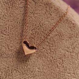 $enCountryForm.capitalKeyWord Australia - Cute design girlfriend heart pendant necklace fashion korean style heart shape design gold silver pendant necklace jewelry wholesale