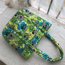 green tote bags wholesale 2019 - Designer Pastoral Style Floral Women Handbags VB Brand Shoulder Shopping Bag Flower Ladies Duffel Bag Travel Tote Weeken