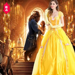 Belle Beauty Beast costume online shopping - Halloween Clothing Belle Princess Skirt Adult Beauty And Beast Baer White Snow Masquerade Ball Clothing