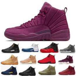 Discount boxing games - Fashion 12s Mans Basketball Shoesblack White Milan for Men French Blue Flu Game CNY Sneakers Gym Red Taxi Sports Shoe
