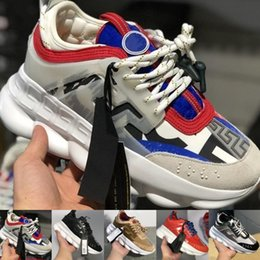 Bags sneakers online shopping - 2 Chainz x Chain Reaction Sneakers Designer Luxury Shoes Sport Fashion Casual Shoes Trainer Lightweight Link Embossed Sole With Dust Bag