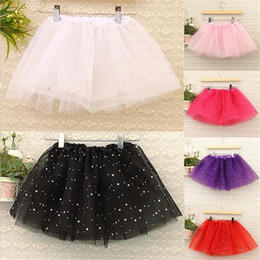 $enCountryForm.capitalKeyWord Canada - Free size Summer Kids Baby Star Glitter Dance Tutu Skirt For Girl Sequin Tulle Toddler Lace Skirt Children Chiffon 6 Color A826