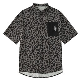 $enCountryForm.capitalKeyWord Australia - 2019 Spring new Korean version of loose student net red Leopard pattern short-sleeved shirt men and women design sense of niche shirts