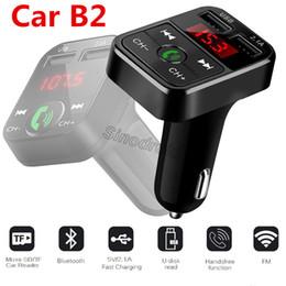 Tf card holder online shopping - Newest B2 Wireless Bluetooth Multifunction FM Transmitter USB Car charger Mini MP3 Player Car Kit Holder TF Card HandsFree Headset Modulator