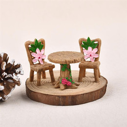 $enCountryForm.capitalKeyWord UK - ecoration Crafts Miniatures 3pc set Mini Table Chair Figurines Miniatures Micro Landscape Figurines Terrarium Decor Doll House Ornaments...