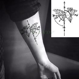 a895d794c Waterproof Temporary Tattoo Sticker Compass Flash Tatoo Fake Tatto Neck  Wrist Foot Arm Tatouage Body Art For Girl Men Women