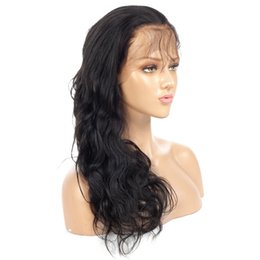 $enCountryForm.capitalKeyWord Canada - Unprocessed hot selling fashion long hair wig 100% Malaysian hair black body wave handmade full lace hair with weaving cap free shipping