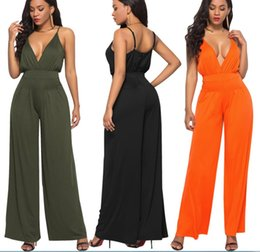 Sexy Tute Rave Festival Tuta Moda Nova One Piece a V profondo Pant Backless Bodycon pagliaccetti Womens Jumpsuit