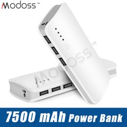 Power Bank External Battery Pack Charger Australia - ZZYD For iP 6 7 8 Samsung S8 Note 8 Portable 7500mAh Power bank External Battery Pack 3 USB Phone Charger