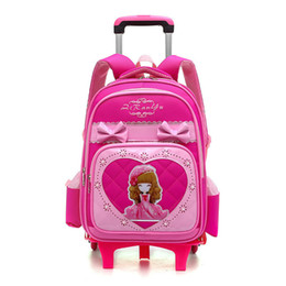 $enCountryForm.capitalKeyWord UK - Kids Girls Trolley Schoolbag Luggage Wheeled Book Bags Backpack Latest Removable Children School Bags With 2 3 Wheels Stairs