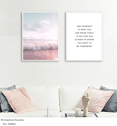 $enCountryForm.capitalKeyWord Australia - Ocean Landscape Canvas Poster Nordic Style Beach Pink Bus Wall Art Print Painting Decoration Picture Scandinavian Home Decor