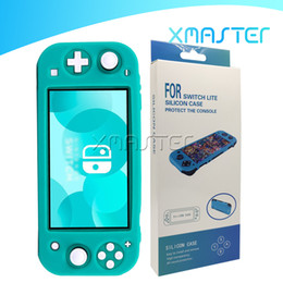 Wholesale switch cases resale online - For Nintendo Switch Lite Game Console Controller Shell Case Silicone Full Cover Shockproof Anti fall Protective Case for Switch Lite xmaster
