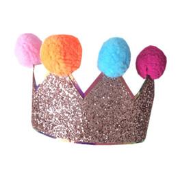 $enCountryForm.capitalKeyWord UK - Baby Headbands Hair Bows Baby Girle Headbands Colored Elastic Fur Ball Bow Children's Birthday Crown Accessories Fashion