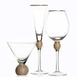 $enCountryForm.capitalKeyWord Australia - wholesale custom hand blown clear 380mL cocktail glass transparent ball stem martini glass with gold rim