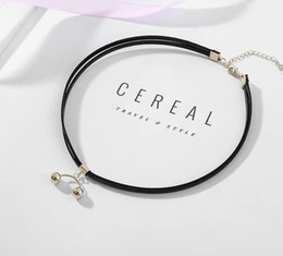 Chain Netting Australia - 2019 fashion trend black minimalist choker light luxury necklace women's collar retro collar chain short neck belt tide net personality exag
