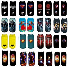 Discount colorful pop art - Hot Pop Unique New Summer Cartoon Men Women Short Socks 3D Painting Art Happy Boat Socks Funny Kawaii Colorful Ankle