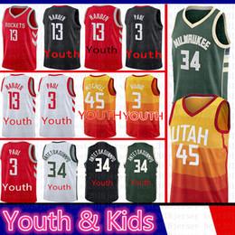 e2ceeb8d8 Jazz man online shopping - 45 Donovan Mitchell Youth Kids Ricky Rubio Utah Jersey  Jazz Giannis