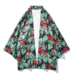 $enCountryForm.capitalKeyWord NZ - Planet Print Kimono Three Quarter Sleeve Oversized Shirts for Men Sunprotect Men's Shirt Street Clothing