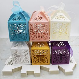 $enCountryForm.capitalKeyWord Australia - Popular Cross Candy Boxes Gift Box For Baby Shower Baptism First Birthday Communion Christening Easter Decoration Wholesale