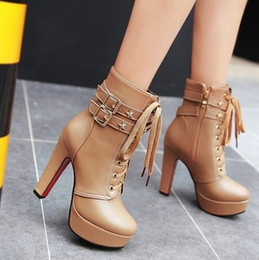 cowgirl charms Australia - New Arrival Hot Sale Specials Super College Fashion Cowgirl Nightclub Stiletto Star Buckle Martin Leather Party Heels Ankle Boots EU34-39