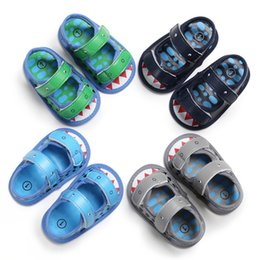 $enCountryForm.capitalKeyWord Australia - Summer baby boys sandals Fashion toddler cartoon shark printed casual Beach shoes infant kids non-slip breathable first walkers Y1960