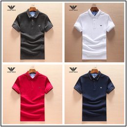 Großhandel 18ss 2018 luxurys Italien Designer Polo Shirt T-Shirts Luxuryi Stickerei Herren High Street Mode Pferd Polo T-Shirt.