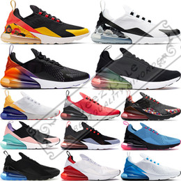 mens rainbow sneakers 2021 - Rainbow Men Women Running Shoes 270og Black Gradient Barely Rose University Red Tiger Cactus Mens Breathable Trainers Sport Sneakers 36-45