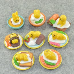 $enCountryForm.capitalKeyWord Australia - 8pcs set Gudetama Lazy Egg Eggs Jun Egg Lazy Balls Yolk Jun brother 2-4cm Mini PVC Figures Pendant phone Keychain