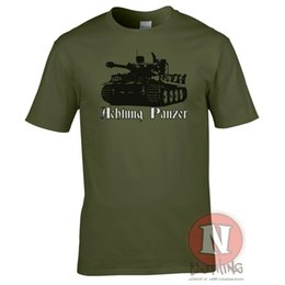 $enCountryForm.capitalKeyWord NZ - Achtung Panzer T-Shirt Tank Ww2 German Military Armour Tee World War Tanks 2019 New Fashion Short Sleeve Design Your Own T Shirt