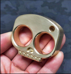 security gear NZ - brass skull Protective Gear tool EDC knuckle dusters Self Defense Personal Security finger self-defense Pendant limited sale