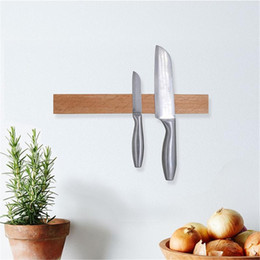 $enCountryForm.capitalKeyWord Australia - Solid Wood Magnet Hook Tool Holder Wooden Knife Holder Hanging Tool Kitchen Cutter Storage Wall Mounted Cherry Wood Tool