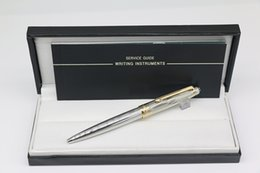 $enCountryForm.capitalKeyWord Australia - Top Grade ag925 MB Ballpoint pen Meisterstucks Silver lines metal gold trim with serial numbers stationary supplies